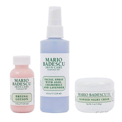 Mario Badescu 抗痘护肤晚间套装 (约273元)