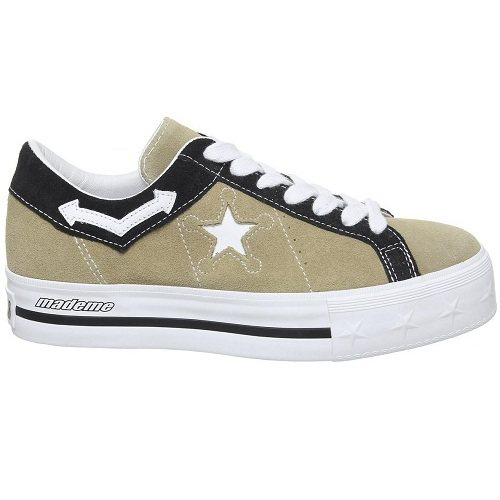 Converse 匡威 One Star 卡其黑色厚底鞋 £30(约272元)
