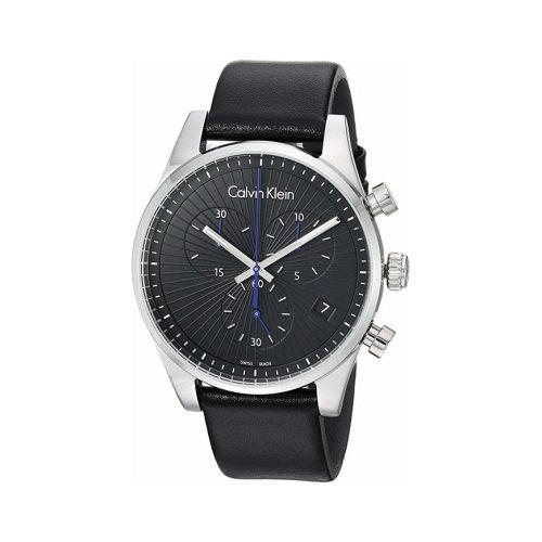 Calvin Klein 卡尔文·克莱因 Steadfast 系列 银黑色男士三眼计时腕表 K8S271C1 (约552元)