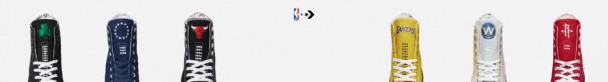Converse 美国官网:Converse x NBA 联名款 Chuck Taylor All Star 帆布鞋 给你喜欢的队伍打CALL