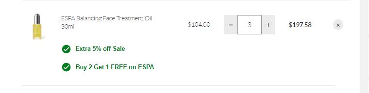 SkinStore:ESPA 英国小众高端水疗品牌 买3付2+额外9.5折+结账自选好礼