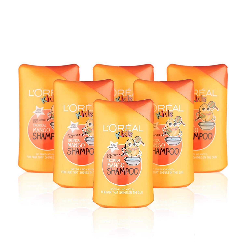 【中亚Prime会员】LOreal Paris 欧莱雅 儿童洗发护发二合一 250ml*6瓶 热带芒果香 到手价105元