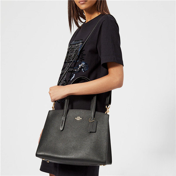 Coach Charlie Carryal 黑色托特包 ¥1,806