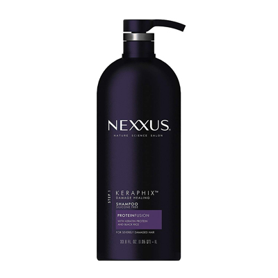 第二件半价!【中亚Prime会员】Nexxus 角蛋白黑米洗发水 1000ml 适合受损发质 到手价90元