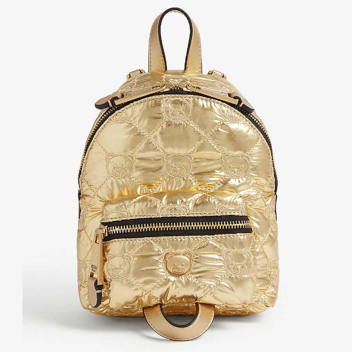 Moschino 迷你金属色双肩包 港币3,450(约3,086元)