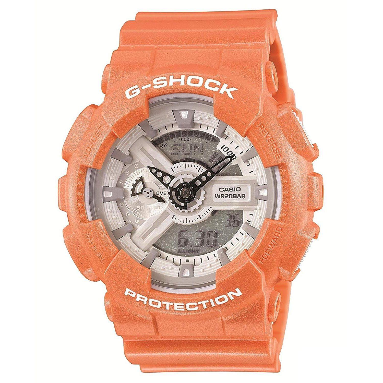 双11限时高返7%!【中亚Prime会员】Casio 卡西欧 G-Shock GA110SG-4A 橙色双显运动腕表 到手价468元
