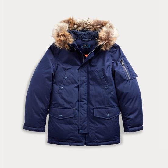 【双11】Ralph Lauren 拉夫劳伦 Faux Fur-Trim 8-20岁 羽绒派克大衣 3.41(约716元)
