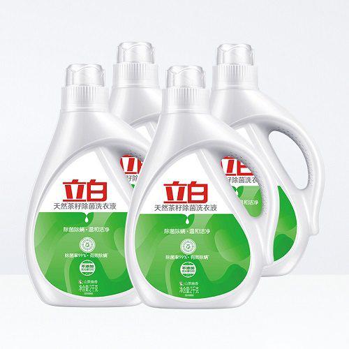 【返利14.4%】立白 天然茶籽除菌洗衣液 6kg 88VIP券后到手价44.05元