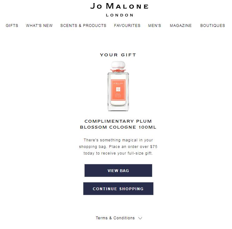 赢正装香水100ml+送身体乳15ml!Jo Malone 祖马龙 油桃花与蜂蜜香水 30ml (约485元)