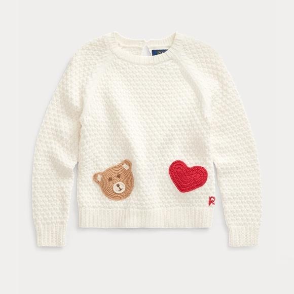 【双11】Ralph Lauren 拉夫劳伦 Bear-Pocket 2-6岁针织衫 .88(约241元)