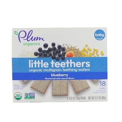 【包邮包税】小小磨牙棒!Plum Organics 有机多谷物磨牙华夫饼 蓝莓味 15g*6包 .39(约24元)