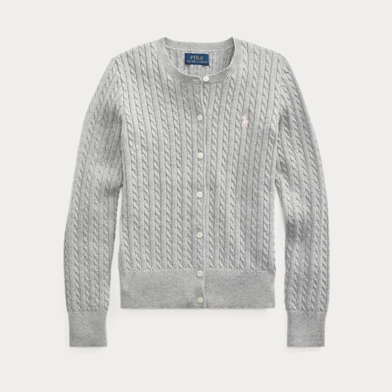【双11】Ralph Lauren 拉夫劳伦 Cable-Knit Cotton Cardigan 7-16岁开衫 .04(约160元)