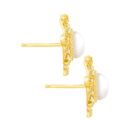 FINECRAFT 珍珠碎钻复古耳钉 .4(约620元)