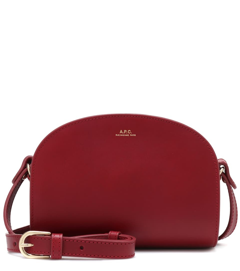 A.P.C. Demi-Lune Mini leather shoulder bag