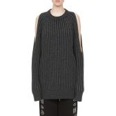 McQ 露肩设计羊毛针织毛衣