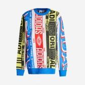 Adidas originals 阿迪达斯三叶草 Logo 印花针织毛衣