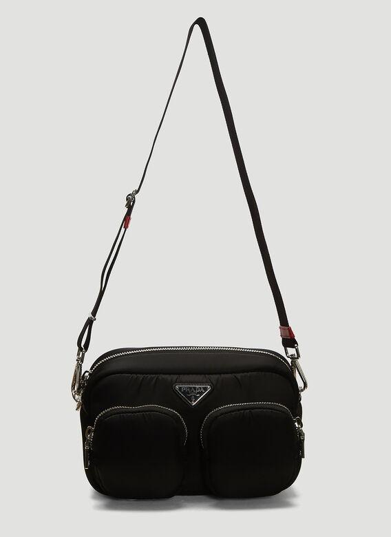 PRADA Padded Nylon Shoulder Bag in Black