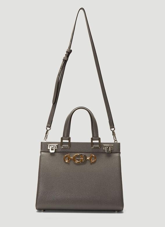 product image view 3  product image view 4  product image view 5  product image view 6   GUCCI Zumi Top Handle Bag in Grey
