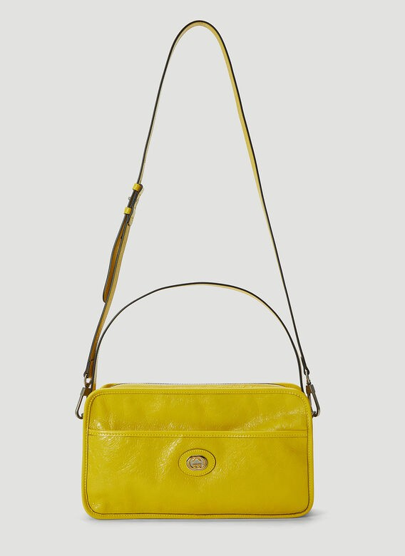 GUCCI Morpheus Leather Bag in Yellow