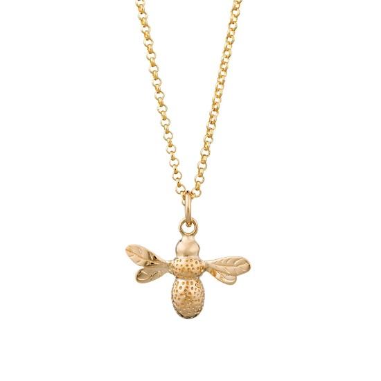 镀金蜜蜂项链