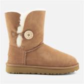 【码全一双免邮】UGG 女士纽扣沙色中筒雪地靴