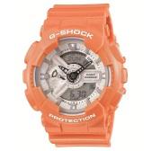 双11限时高返7%!【中亚Prime会员】Casio 卡西欧 G-Shock GA110SG-4A 橙色双显运动腕表