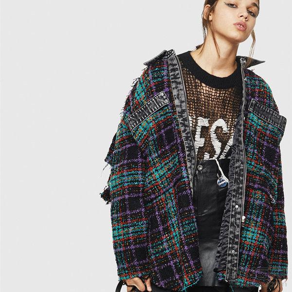 Diesel 彩色格纹毛呢衬衫夹克 8(约2,415元)